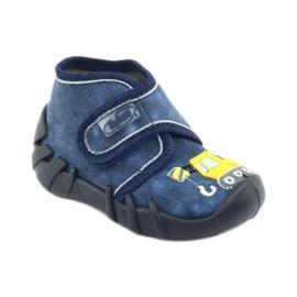 Befado obuwie dziecięce 525P012 niebieskie 2