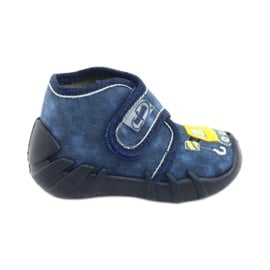 Befado obuwie dziecięce 525P012 niebieskie 1