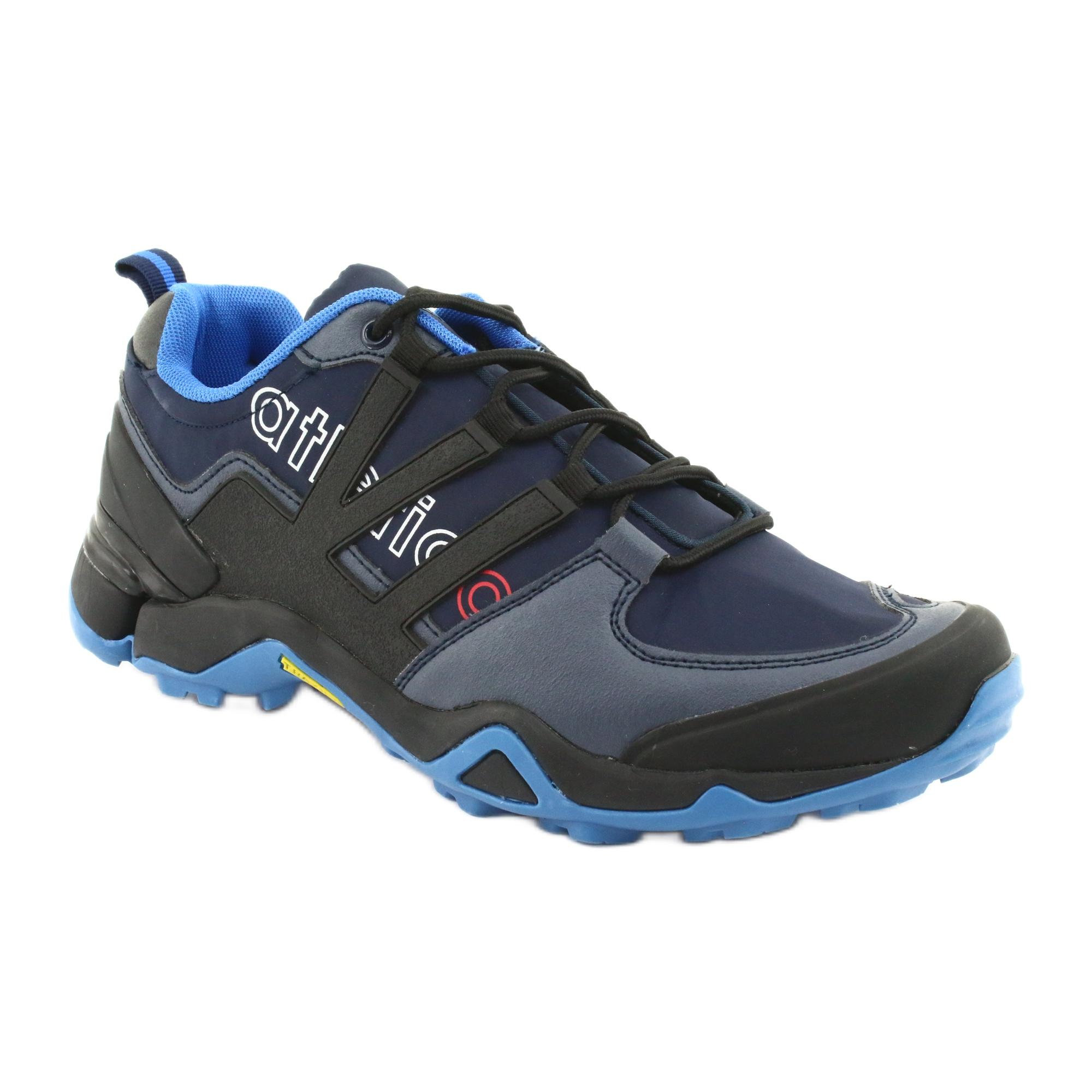 Czarne buty sportowe Atletico 8003 granatowe