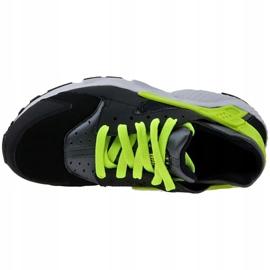 Buty Nike Huarache Run Gs W 654275-017 czarne żółte 2