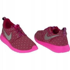 Buty Nike Rosherun Print Gs W 677784-606 różowe 1