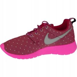 Buty Nike Rosherun Print Gs W 677784-606 różowe 2