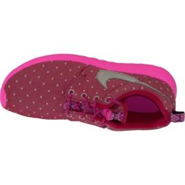 Buty Nike Rosherun Print Gs W 677784-606 różowe 3