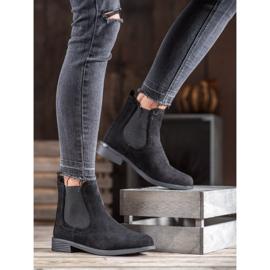 Ideal Shoes Casualowe Sztyblety czarne 4