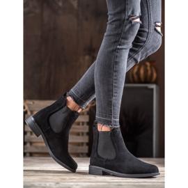 Ideal Shoes Casualowe Sztyblety czarne 5