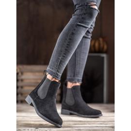 Ideal Shoes Casualowe Sztyblety czarne 1