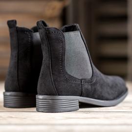 Ideal Shoes Casualowe Sztyblety czarne 2