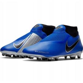 Buty piłkarskie Nike Phantom Vsn Academy Df FG/MG M AO3258 400 niebieskie wielokolorowe 2
