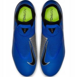 Buty piłkarskie Nike Phantom Vsn Academy Df FG/MG M AO3258 400 niebieskie wielokolorowe 6