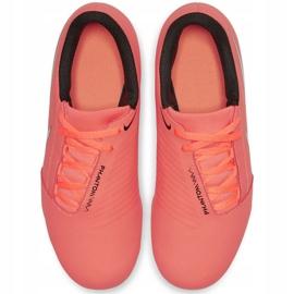 Buty piłkarskie Nike Phantom Venom Club Fg Jr AO0396-810 pomarańczowe pomarańczowe 1