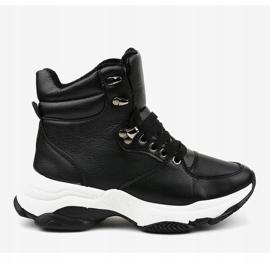 Czarne damskie sneakersy ocieplane C-3132 2