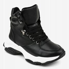 Czarne damskie sneakersy ocieplane C-3132 1