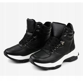 Czarne damskie sneakersy ocieplane C-3132 3