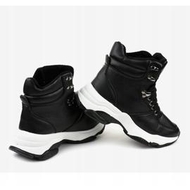 Czarne damskie sneakersy ocieplane C-3132 4