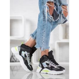 Bella Paris Sneakersy Z Efektem Holo czarne 4