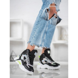 Bella Paris Sneakersy Z Efektem Holo czarne 1