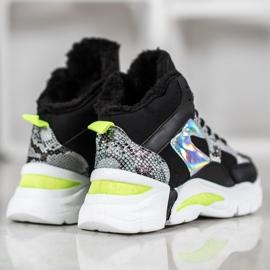 Bella Paris Sneakersy Z Efektem Holo czarne 2
