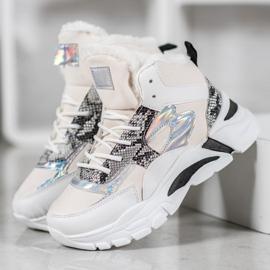 Bella Paris Sneakersy Z Efektem Holo białe wielokolorowe 3