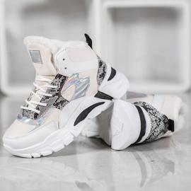 Bella Paris Sneakersy Z Efektem Holo białe wielokolorowe 2