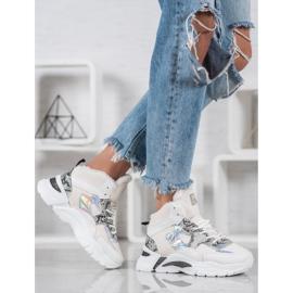 Bella Paris Sneakersy Z Efektem Holo białe wielokolorowe 4