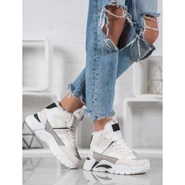 Bella Paris Sneakersy Z Futerkiem białe wielokolorowe 2