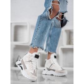 Bella Paris Sneakersy Z Futerkiem białe wielokolorowe 1