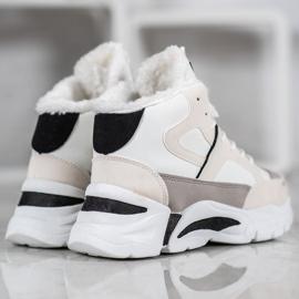 Bella Paris Sneakersy Z Futerkiem białe wielokolorowe 4