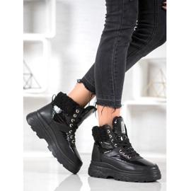 Bella Paris Sneakersy Z Kożuszkiem czarne 5