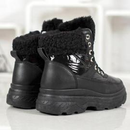 Bella Paris Sneakersy Z Kożuszkiem czarne 3