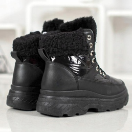 Bella Paris Sneakersy Z Kożuszkiem czarne 4