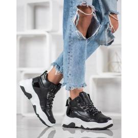 Bella Paris Sznurowane Sneakersy Fashion czarne 4