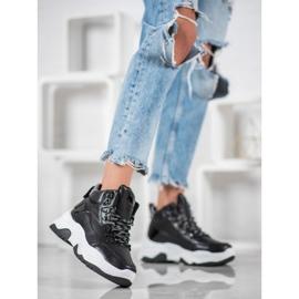 Bella Paris Sznurowane Sneakersy Fashion czarne 1