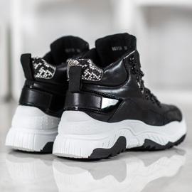 Bella Paris Sznurowane Sneakersy Fashion czarne 3