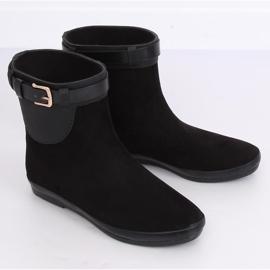 Kalosze damskie botki czarne K1890101 Negro 3