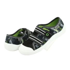 Befado obuwie dziecięce  672Y069 czarne szare zielone 4