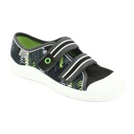 Befado obuwie dziecięce  672Y069 czarne szare zielone 1