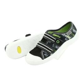 Befado obuwie dziecięce  672Y069 czarne szare zielone 5