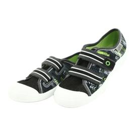 Befado obuwie dziecięce  672Y069 czarne szare zielone 3