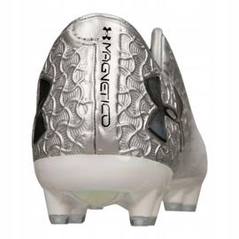 Buty piłkarskie Under Armour Magnetico Pro Fg M 3000111-100 szare biały 4