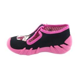 Befado obuwie dziecięce 110P336 różowe granatowe 3