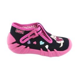 Befado obuwie dziecięce 110P336 różowe granatowe 1
