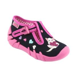 Befado obuwie dziecięce 110P336 różowe granatowe 2