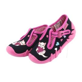 Befado obuwie dziecięce 110P336 różowe granatowe 4