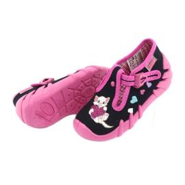 Befado obuwie dziecięce 110P336 różowe granatowe 6