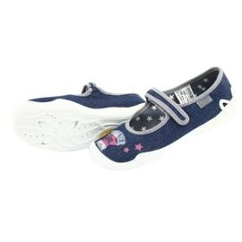 Befado obuwie dziecięce 114Y369 niebieskie różowe szare 5
