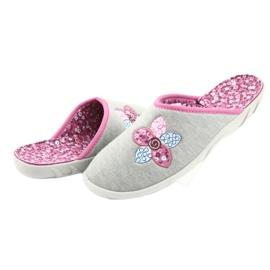 Befado kolorowe obuwie damskie 235D155 fioletowe szare 5