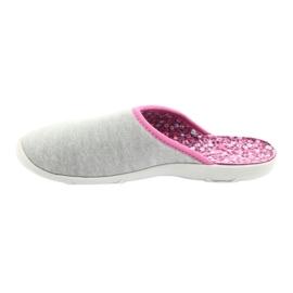 Befado kolorowe obuwie damskie 235D155 fioletowe szare 3