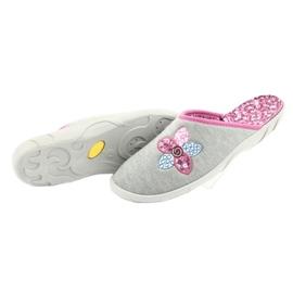Befado kolorowe obuwie damskie 235D155 fioletowe szare 6