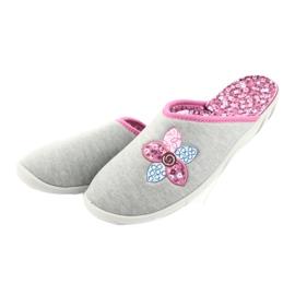 Befado kolorowe obuwie damskie 235D155 fioletowe szare 4