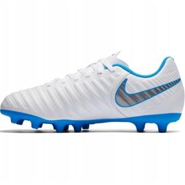 Buty piłkarskie Nike Tiempo Legend 7 Club Fg Jr AH7255 107 białe wielokolorowe 1